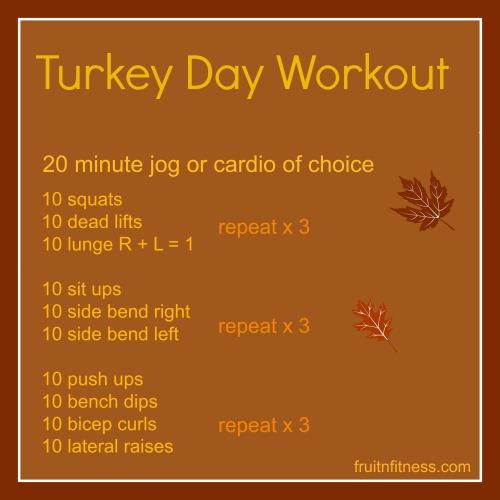 turkey workout